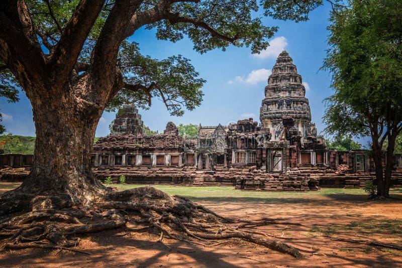 Prasat Hin Phimai em Nakhon Ratchasima, Tailândia fotografia de stock