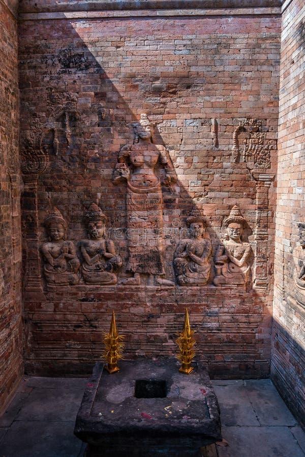 Prasat Kravan świątynna antyczna świątynia powikłany Angkor Wat, Kambodża zdjęcia royalty free
