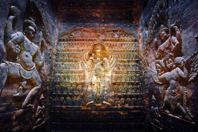 Prasat Krawan, Kambodja stock fotografie