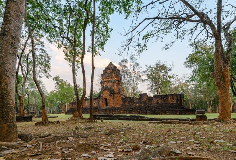 Prasat Muang Sing sind alte Ruinen des Khmertempels im historischen Park bei Kanchanaburi lizenzfreies stockfoto