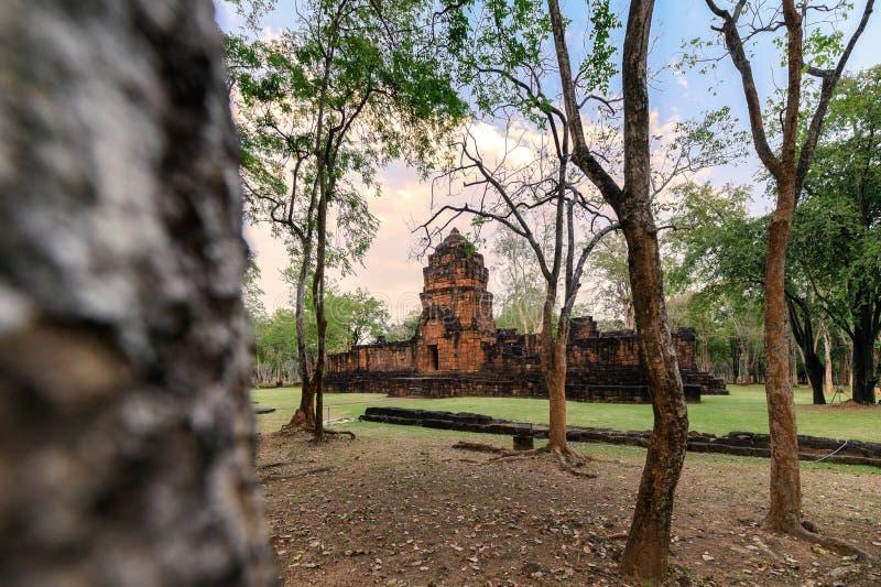 Prasat Muang Sing sind alte Ruinen des Khmertempels im historischen Park lizenzfreies stockfoto