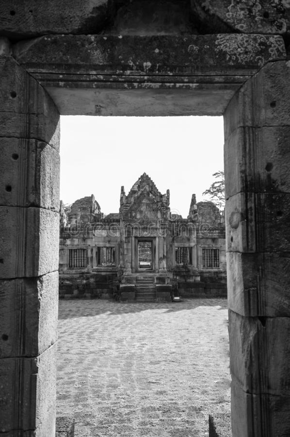 Prasat Muang Tam castle in Buriram, Thailand royalty free stock image