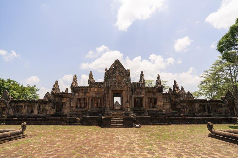 Prasat muang tam historisch park bij buriramprovincie Thailand stock afbeelding