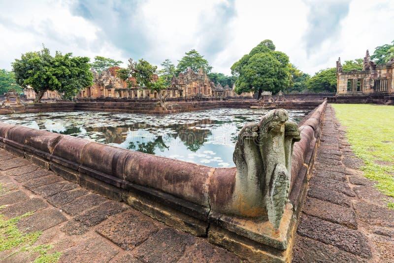 Prasat Muang Tam Sanctuary, un complexe de temple de Khmer de 1.000 années, province de Buriram, Thaïlande images stock