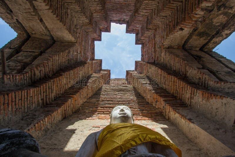 Old Buddha statue at Wat Prasat Nakorn Luang,Amphoe Nakorn Luang,Phra Nakorn Si Ayutthaya,Thailand. Prasat Nakorn Luang is located in Amphoe Nakorn Luang near royalty free stock photography