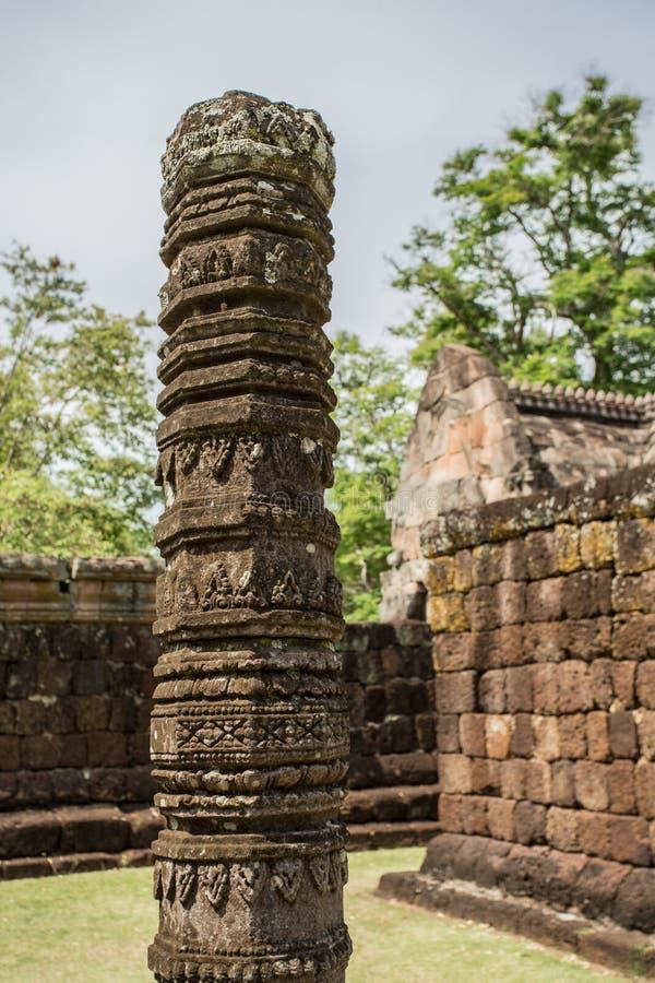 Prasat Phanom ringde historiskt parkerar royaltyfri fotografi