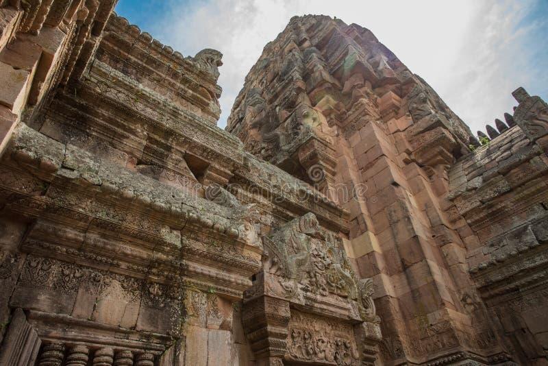 Prasat Phanom ringde historiskt parkerar royaltyfri bild