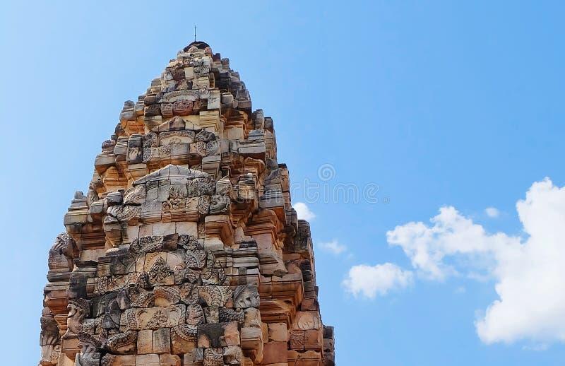 Prasat Sdok Kok Thom, det historiskt parkerar i Thailand arkivbilder