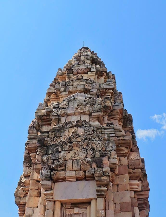 Prasat Sdok Kok Thom, det historiskt parkerar i Thailand royaltyfri bild
