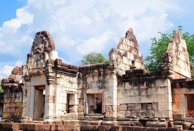 Prasat Sdok Kok Thom, det historiskt parkerar i Thailand arkivbild