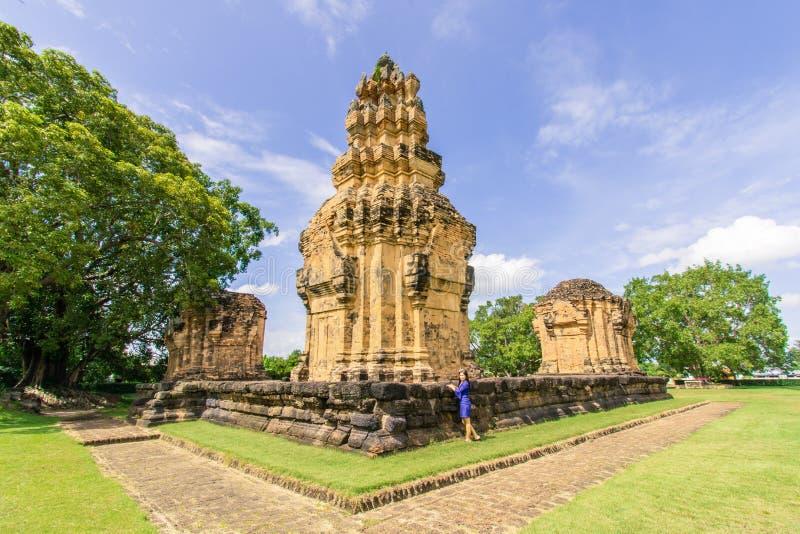 Prasat Sikhoraphum,surin,泰国 免版税库存图片