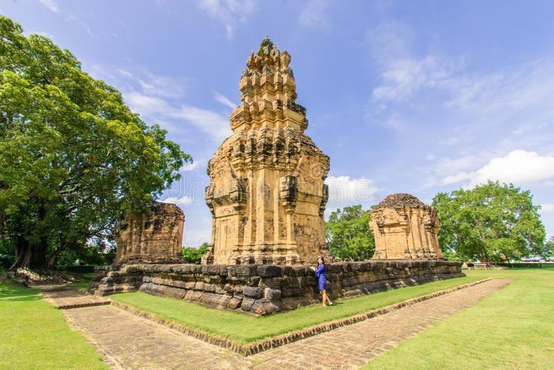 Prasat Sikhoraphum,surin,thailand. Prasat Sikhoraphum or Castle Rock temple in Surin of Thailand.  asia blue landscape nature northeast outdoor royalty free stock image