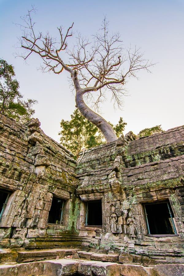 Prasat TA Phrohm es un castillo de piedra construido en el período antiguo del Khmer imagen de archivo
