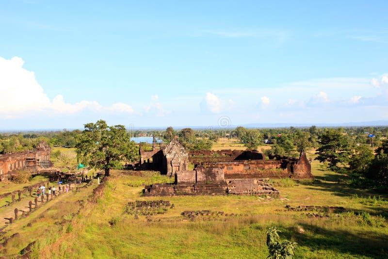 prasat wata phu champasak południowy Laos jeden dwa Laos światowego dziedzictwa miejsce obrazy royalty free