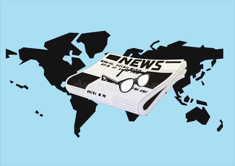 prasowy świat ilustracji