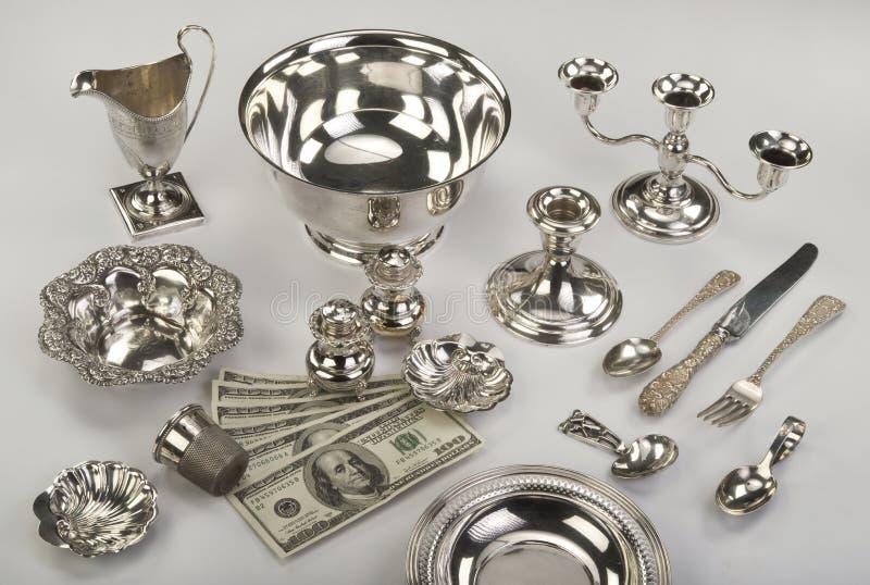 Prata da sucata. fotos de stock royalty free