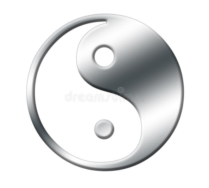 Prata de Yin yang ilustração royalty free