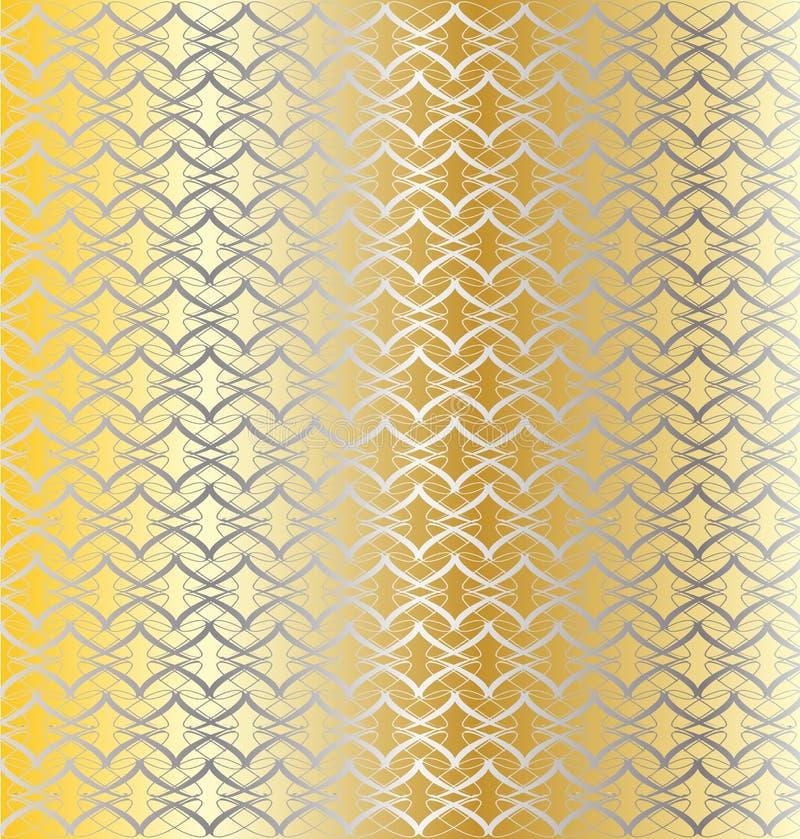 Prata e fundo ligado ouro ilustração royalty free
