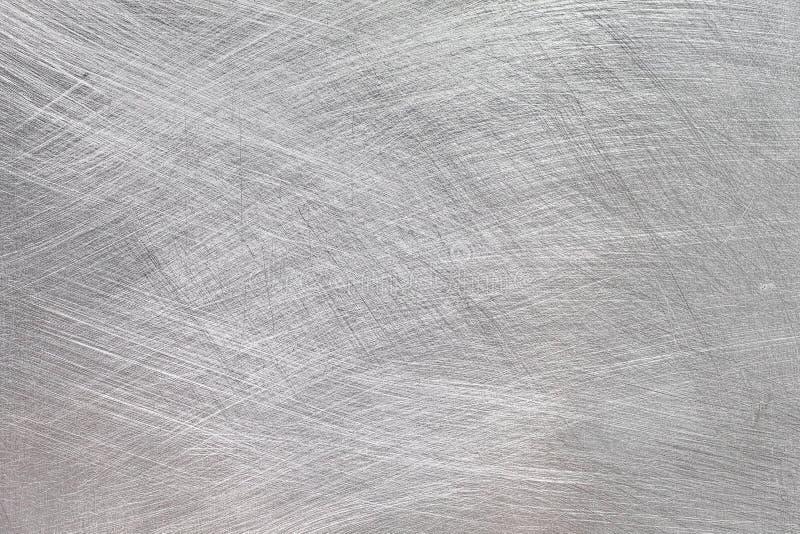 Prata escovada metal industrial, fundo de alta resolução de alumínio escovado da textura imagem de stock