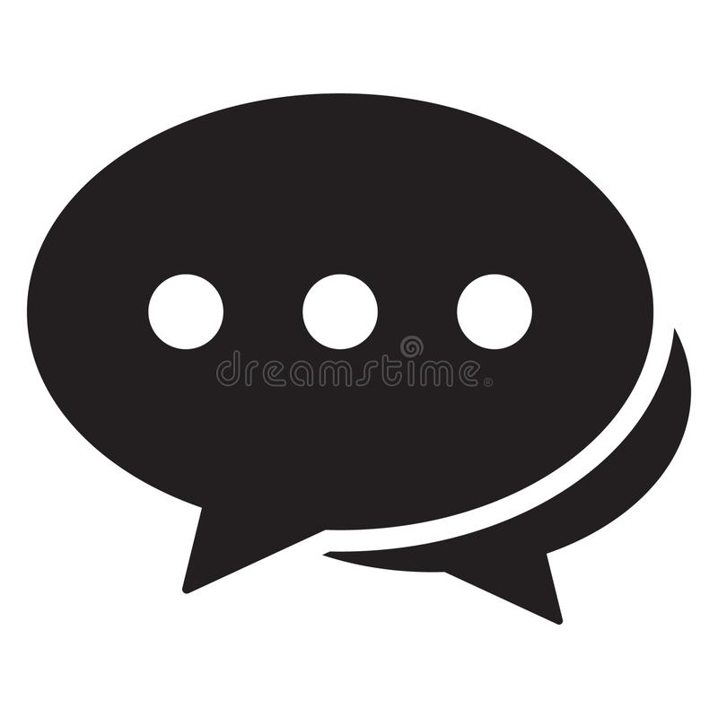 Prata symbolen, föra dialog symbolen, kommentarer symbolen, design för lägenhet för vektor för anförandebubblasymbol stock illustrationer
