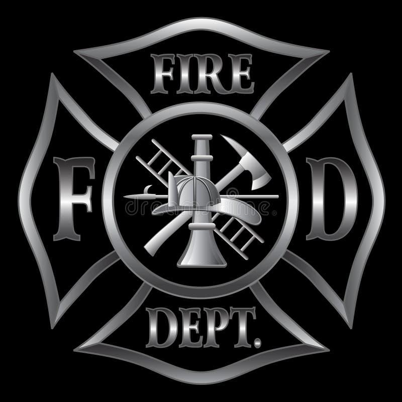 Prata transversal do departamento dos bombeiros ilustração stock