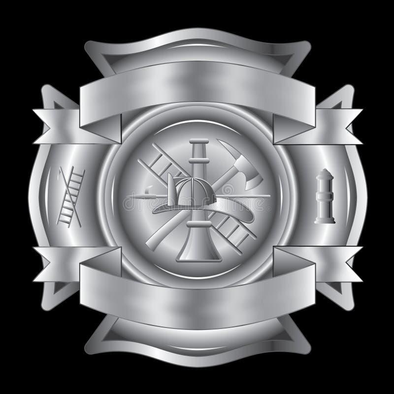 Prata transversal do sapador-bombeiro ilustração royalty free