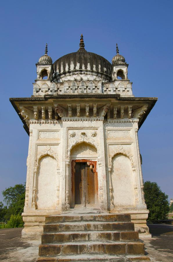 PRATAPESHWAR TEMPLE, Facade - Eastern and Southern Temples, Western Group, Khajuraho, Madhya Pradesh, UNESCO World Heritage Site royalty free stock photo