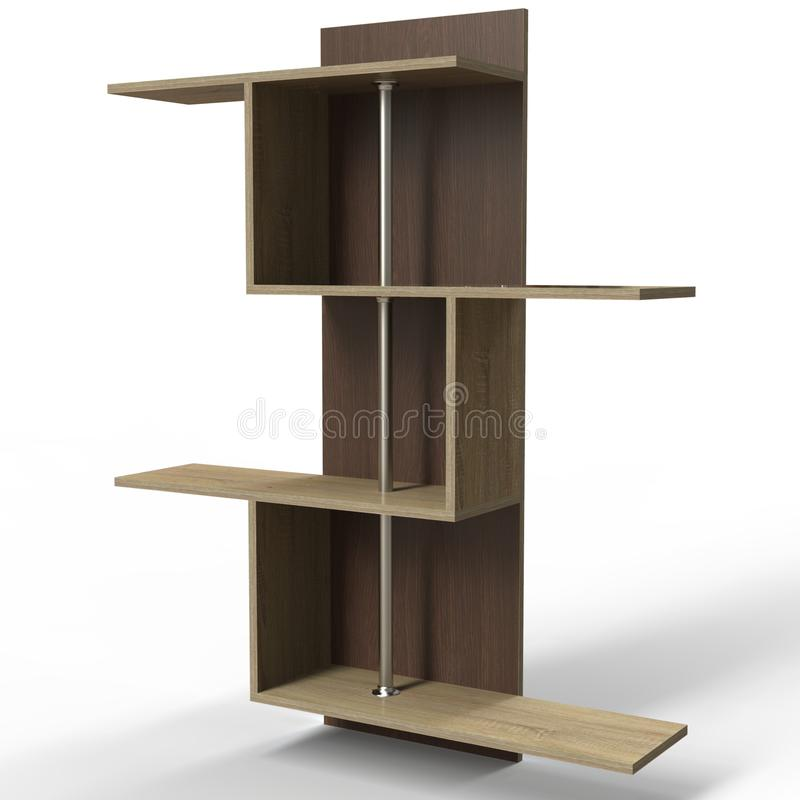Prateleira da parede para livros 'Tisa Furniture ' ilustração royalty free