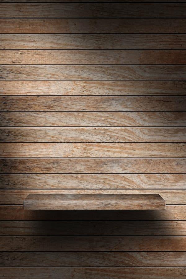 Prateleira de madeira vazia fotografia de stock royalty free