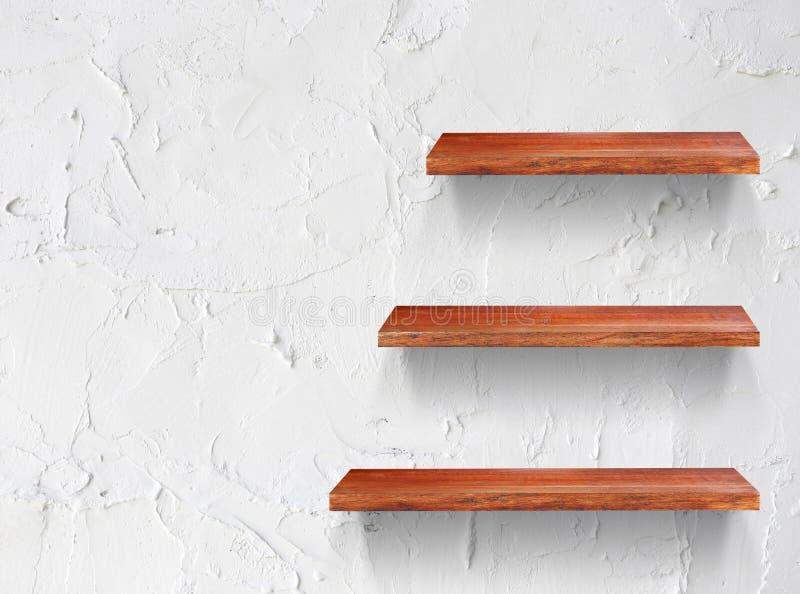Prateleira de madeira vazia fotografia de stock