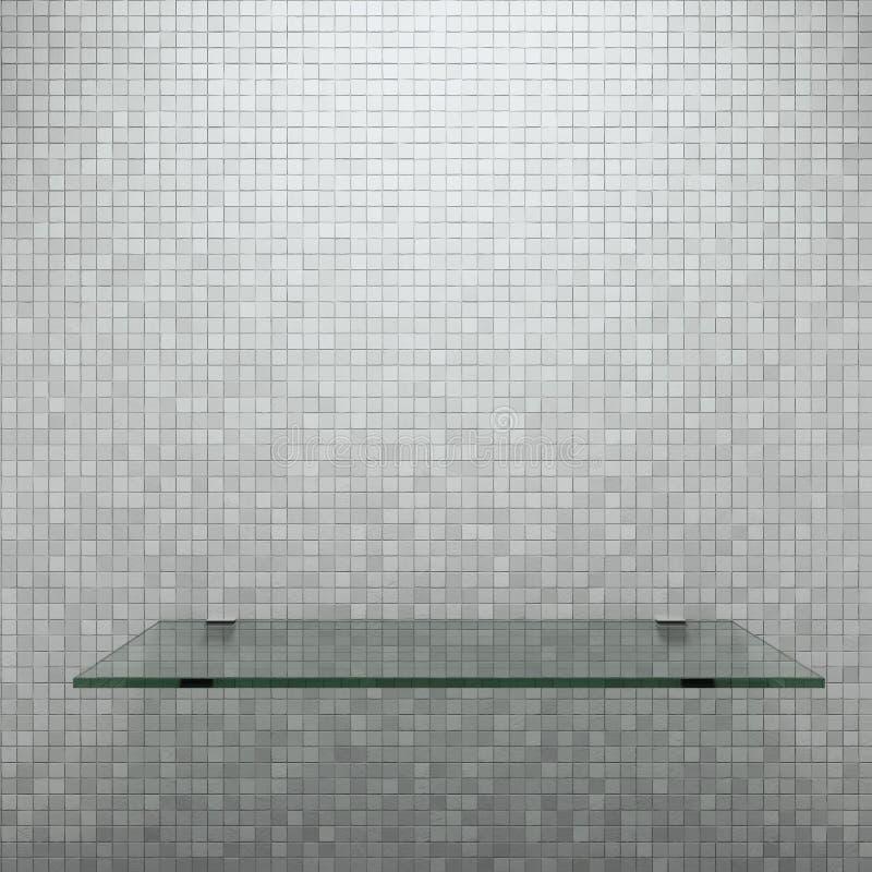 Prateleira de vidro ilustração do vetor