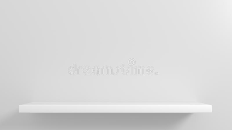 Prateleiras brancas para a mostra dos bens ilustração royalty free