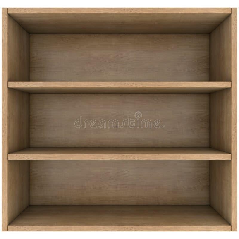 Prateleiras de madeira ilustração stock