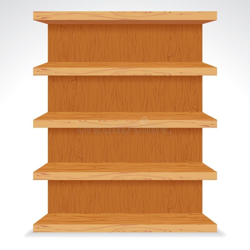 Prateleiras de madeira do vetor Apronte para seu projeto ilustração royalty free