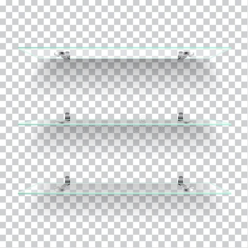 Prateleiras de vidro ilustração do vetor