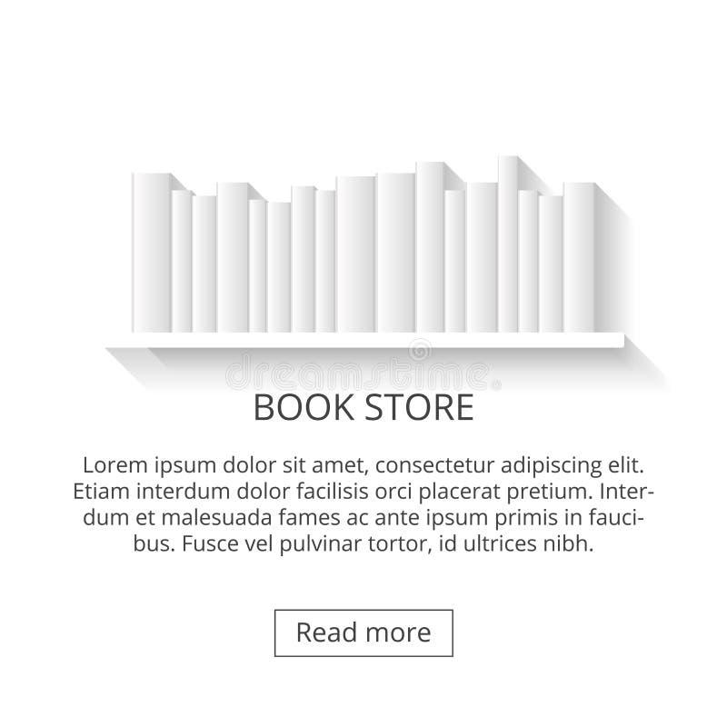 Prateleiras, loja que vende livros livro 3d em um fundo branco ilustração royalty free