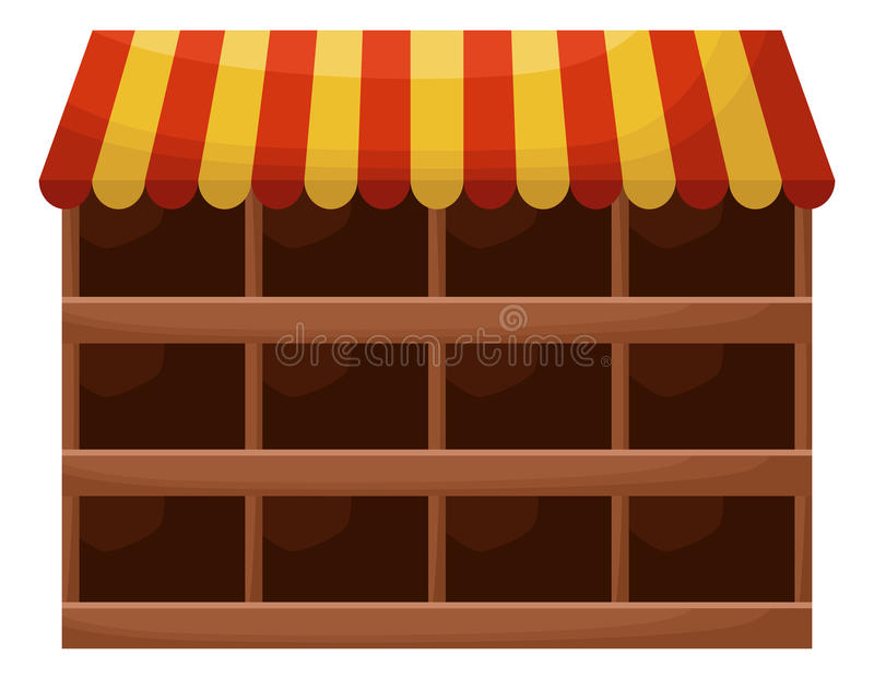 Prateleiras vazias de uma loja ilustração royalty free