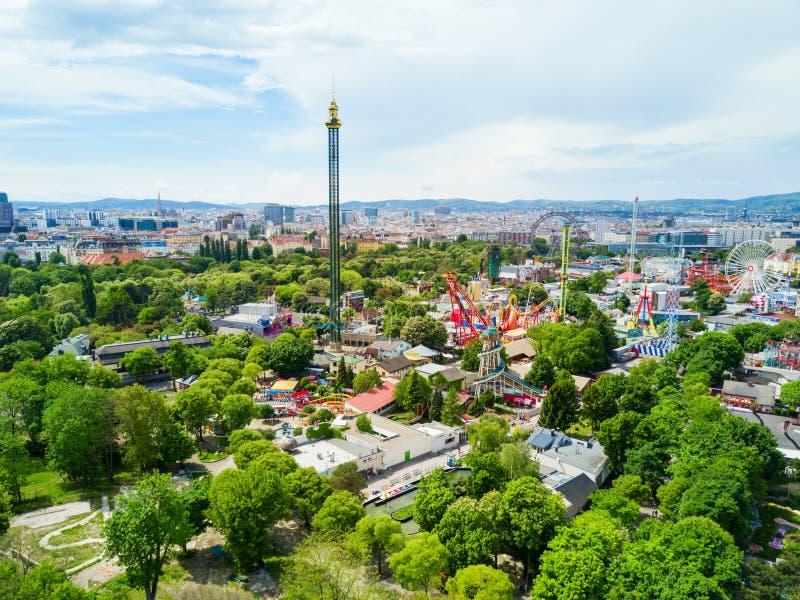 Prater公园在维也纳 免版税图库摄影