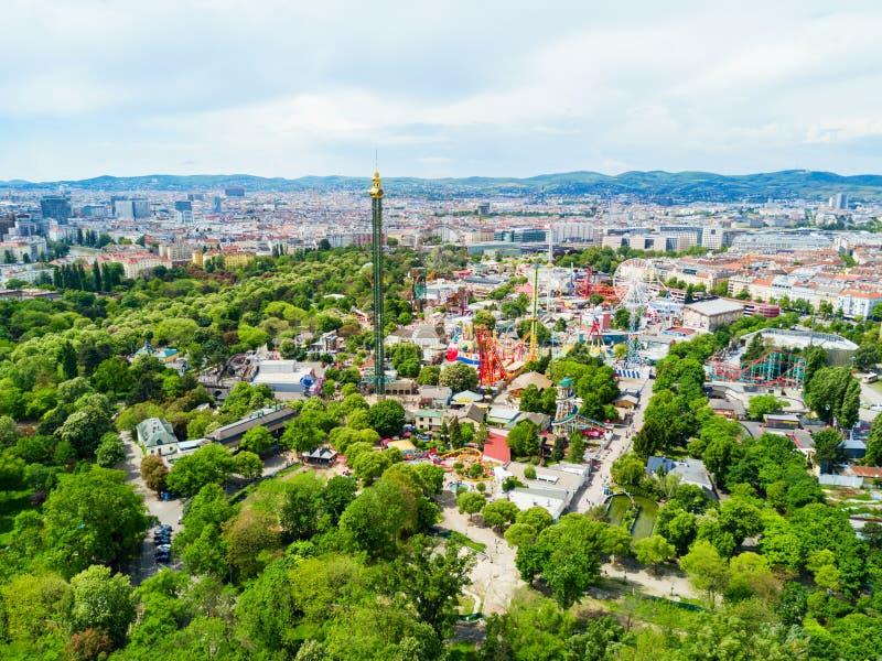 Prater公园在维也纳 免版税库存照片