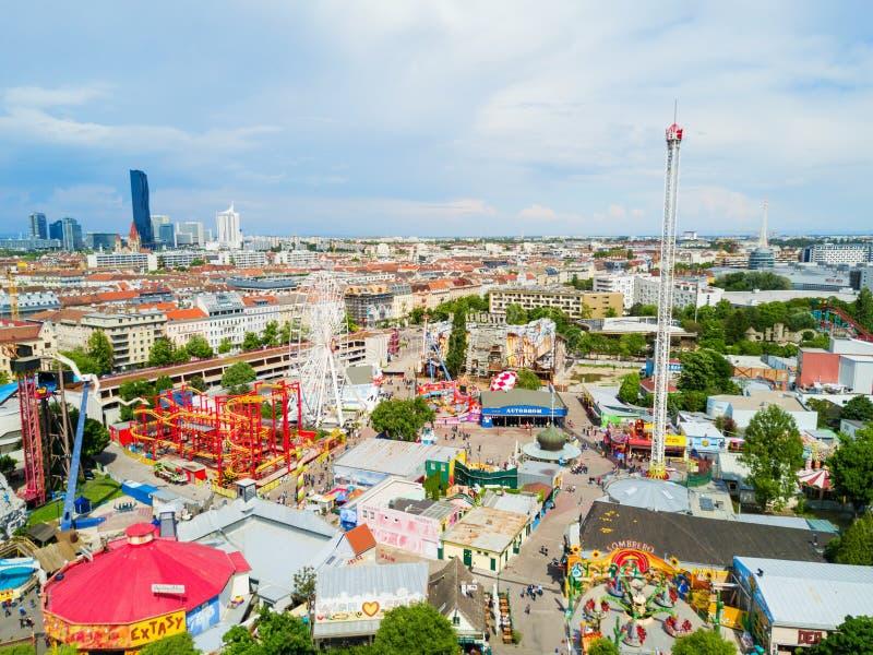 Prater公园在维也纳 免版税库存图片
