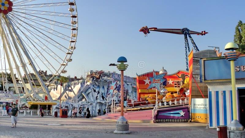 Prater游乐园在维也纳 免版税库存图片