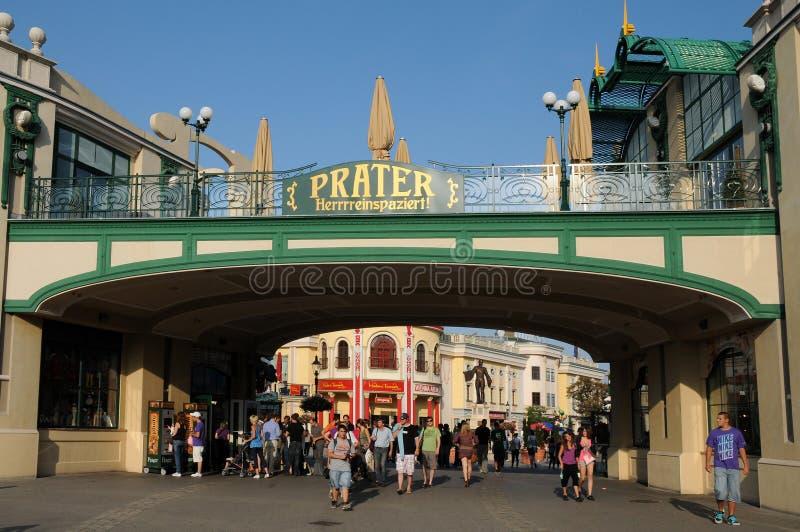 Download Prater entrance editorial stock image. Image of summer - 20868594