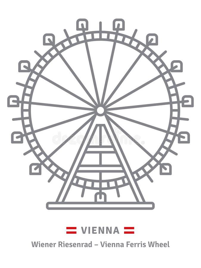 Prater Ferris Wheel en el icono de Viena libre illustration