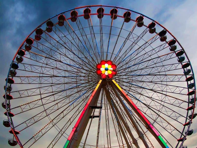 Prater - rotella del traghetto, Vienna immagini stock libere da diritti
