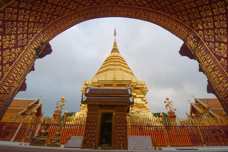 Prathat Doi Suthep de Wat, Chiangmai, Tailândia imagens de stock
