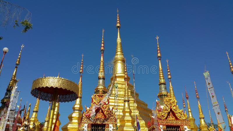 Prathat Lampang Luang Temple stock images