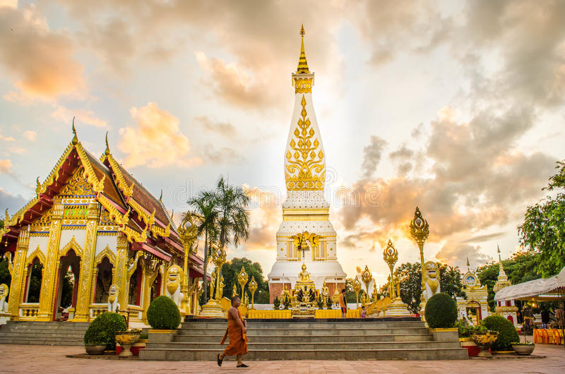 Prathatphanom-Tempel lizenzfreies stockbild