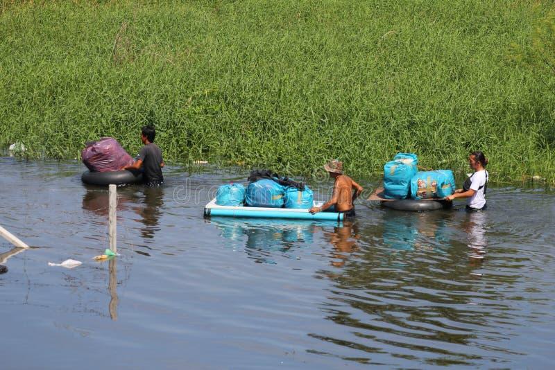 prathumthani Ταϊλάνδη πλημμυρών στοκ εικόνες