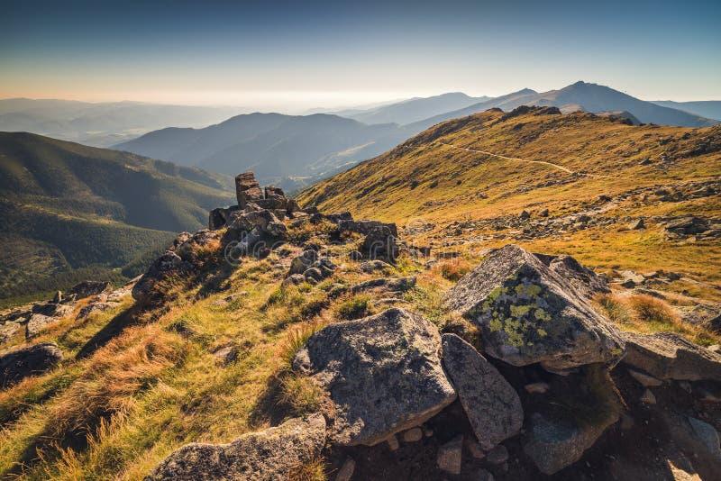 Prati e colline nel parco nazionale basso di Tatra, Slovacchia immagine stock libera da diritti