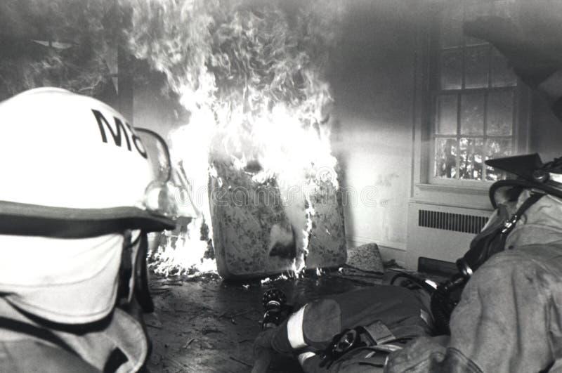Download Pratica dei pompieri fotografia stock. Immagine di pompieri - 219768